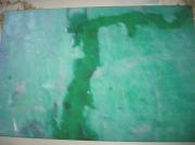 tableau abstrait eau toile vert : le diable