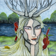 tableau personnages femme oiseau fleuve : Mademoiselle Chaperon