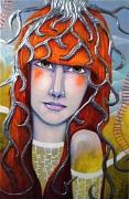 tableau personnages visage femme plante : NATACHA