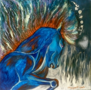 tableau animaux cheval : Fougueux