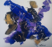 tableau abstrait abstrait bleu : NEW DAY