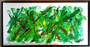 tableau abstrait : GREEN MORNING