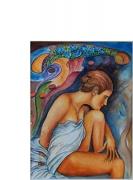 tableau personnages couleurs expression : Ode à la femme