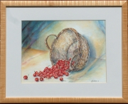 tableau fruits cerises : Panier de cerises