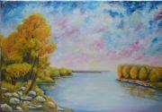 tableau paysages loire automne blois : Lueur de Loire