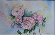 tableau fleurs : Les roses