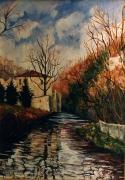 tableau paysages fabrica di mazzuckel artistespeintres de art luxembourgpeint artistes peintres ,a : Castiglione Olona