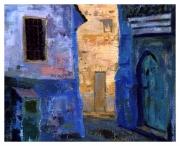 tableau paysages ruelles ,a chefchaoue : Chefchaouen (Maroc)
