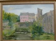 tableau paysages artistes peintres ab peintures et paysage echternach peintures artistes peintres de : L'enceinte d'Echternach