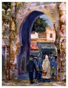 tableau paysages porche de la medina : Tanger
