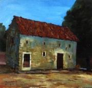 tableau paysages vielle grange ,a momp : Grange à Mompach
