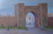 tableau paysages arts peintures art artistes peintres lu abdellatif zeraidi ,a portraits et paysage : Ville de Salé (Maroc)