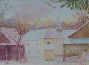 tableau paysages aquarelles luxembour aquarelles allemagne artistespeintre du : Hiver à Wellkyllermühl