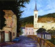 tableau paysages rue du village ,a bor : Borne (Luxembourg)
