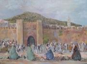 tableau paysages boujloud ,a fes est e abdellatif zeraidi ,a artistes peintres de artisti in italia ,p : Boujloud Fès (Maroc)