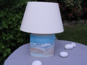 artisanat dart marine porcelaine ameline mer lampe : lampe marine