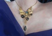 bijoux personnages art nouveau fantastique libellule femme : collier femme libellule