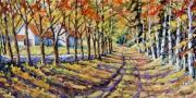 tableau paysages paysage route maison canada : La route vers la maison