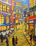 tableau architecture new orleans nouvelle orleans festival urbain scane de rue : Swing Town grande toile de scène urbaine de la Nouvelle Orléans