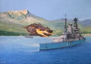 tableau marine cuirasse lorraine marine nationale rade de toulon 2eme gm : Le cuirassé Lorraine