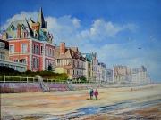 tableau paysages normandie plage villas : Trouville