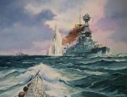 tableau marine cuirasse royal navy u boot 2eme guerre mondiale : Le torpillage du cuirassé HMS Barham