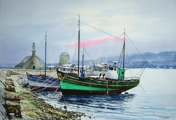 TABLEAU PEINTURE  - Port de Camaret