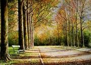 painting : Bois de Vincennes à l'automne