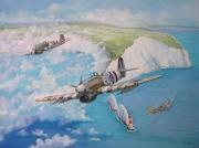 tableau scene de genre royal air force chasseur bombardier 2eme gm the needles : Typhoon