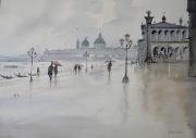 tableau villes venise place saintmarc lagune : Venise
