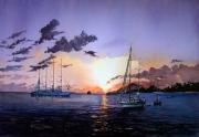 tableau paysages martinique baie de ste anne voilier : Sainte Anne en Martinique