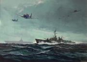 tableau scene de genre ww2 us navy destroyer dauntless : Destroyer US