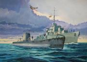 tableau marine forces navales franc royal navy : Le sous-marin Rubis