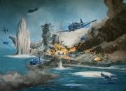 tableau marine yamato pacifique us air force marine : La fin du cuirassé Yamato