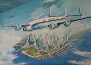 tableau autres avion new york air france : Superconstellation