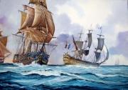 tableau marine marine ,a voile bucentaure trafalgar napoleon : Marine impériale
