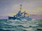 tableau marine us navy destroyer 2e guerre mondiale : USS Fletcher