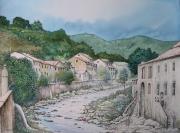 tableau paysages martinique saintpierre eruption montagne pe 8 mai 1902 : Saint-Pierre, la Roxelane
