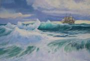 tableau marine vagues ecume marine ,a voile : Rouleaux et brisants