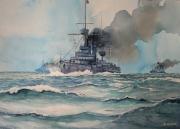 tableau marine marine nationale cuirasses fumee : Cuirassés en 1914