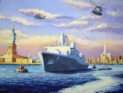 tableau marine us navy newyork tour de la liberte : USS New-York