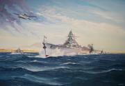 tableau marine marine nationale cuirasse mers el kebir sabordage : Le cuirassé Dunkerque