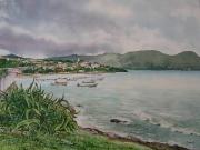 tableau paysages martinique sainteluce antilles tropical : La baie de Sainte-Luce