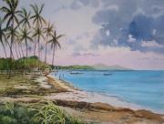 tableau paysages martinique le vauclin fonds blancs cocotiers : La pointe Faula en Martinique
