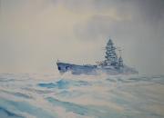 tableau marine marine de guerre cuirasse royale mers el kebir : Le cuirassé Dunkerque