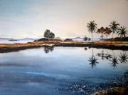 tableau paysages martinique les trois ilets cocotiers : Martinique, Les trois Ilets