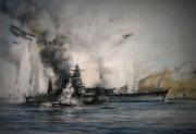 tableau marine marine francaise mers el kebir swordfish royal navy : Cuirassé Dunkerque