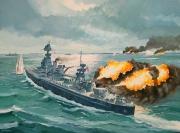 tableau marine d day cuirasse normandie us navy : Cuirassé USS Texas