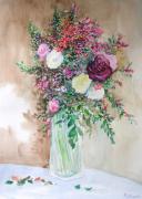 tableau fleurs vase fleurs bouquet : Juste quelques fleurs.