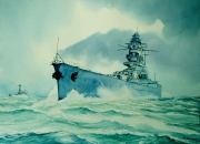 tableau marine cuirasse marine nationale mers el kebir sabordage : Le cuirassé Dunkerque